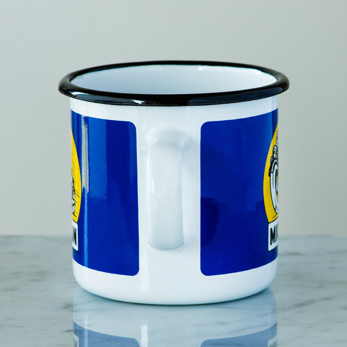 Blue Michelin Man Enamel Mug