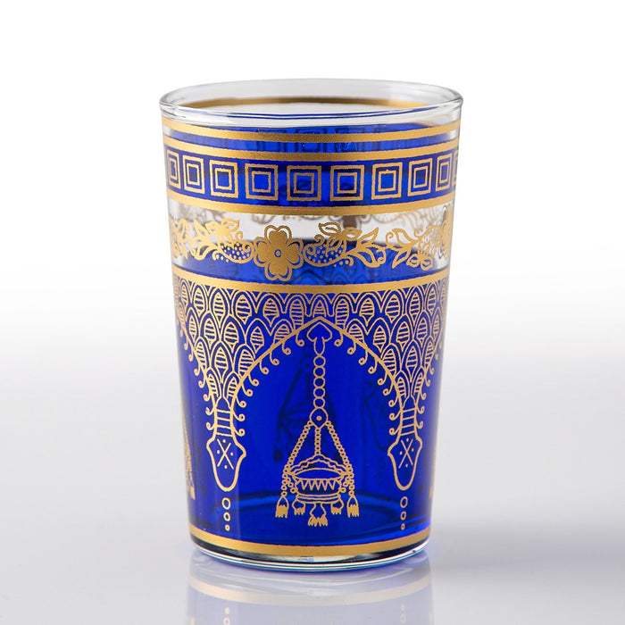 Blue Misbah Moroccan Tea Glass (Short)