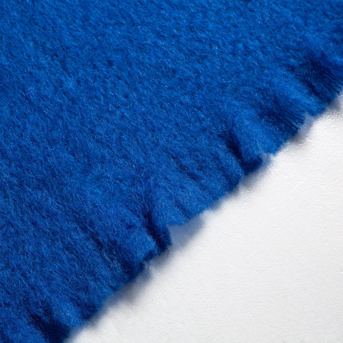 Blue Mohair Throw Blanket