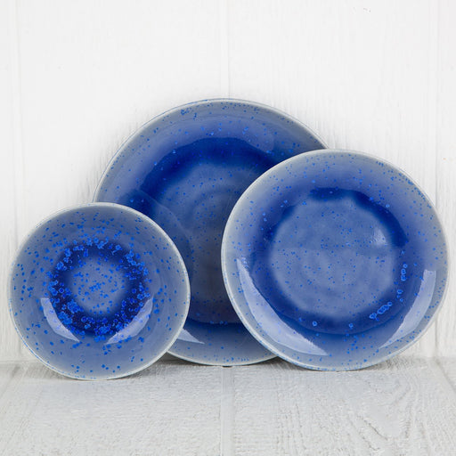 Blue Reactive Dinnerware