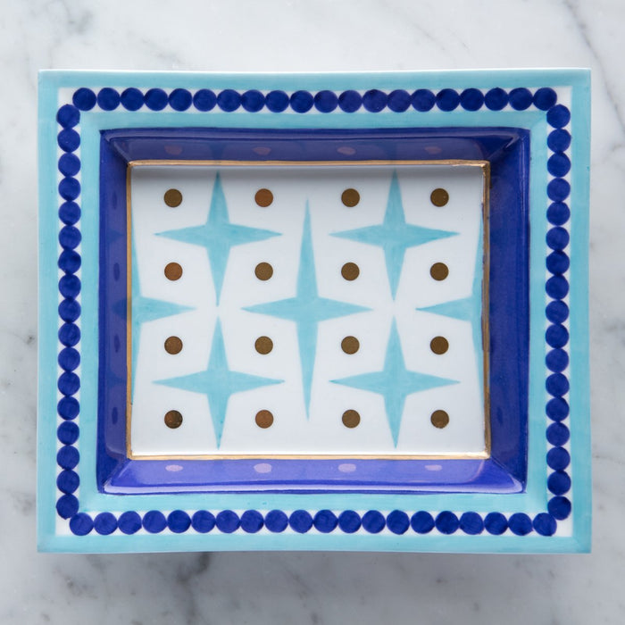 Blue Stars Decorative Tray