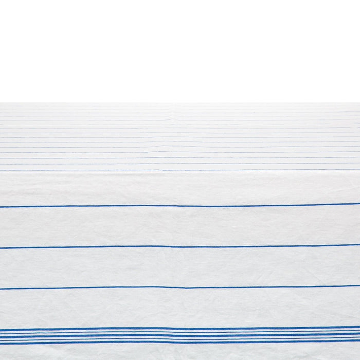 "Blue Striped Tablecloth (69"" x 108"")"