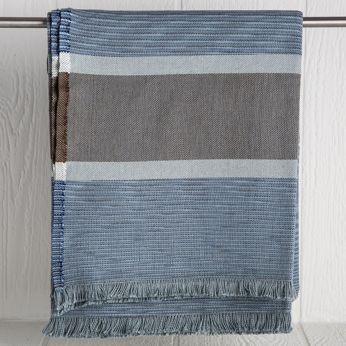 Blue Striped Throw Blanket