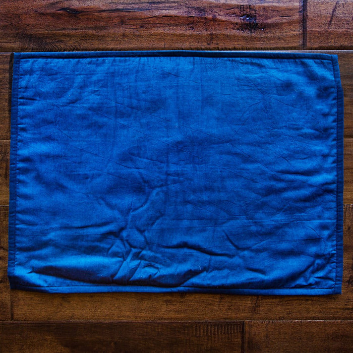 "Blue Tie-Dyed Cotton Placemat (22.75"" x 14.75"")"
