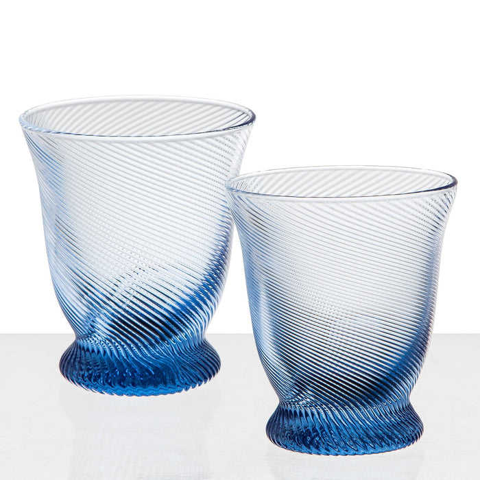 Blue Twist Glasses