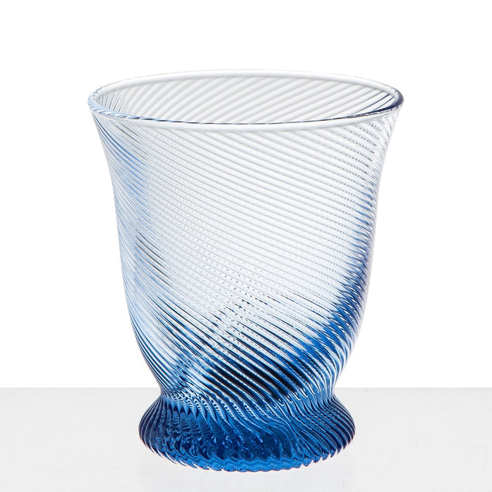 Blue Twist Wine Glass