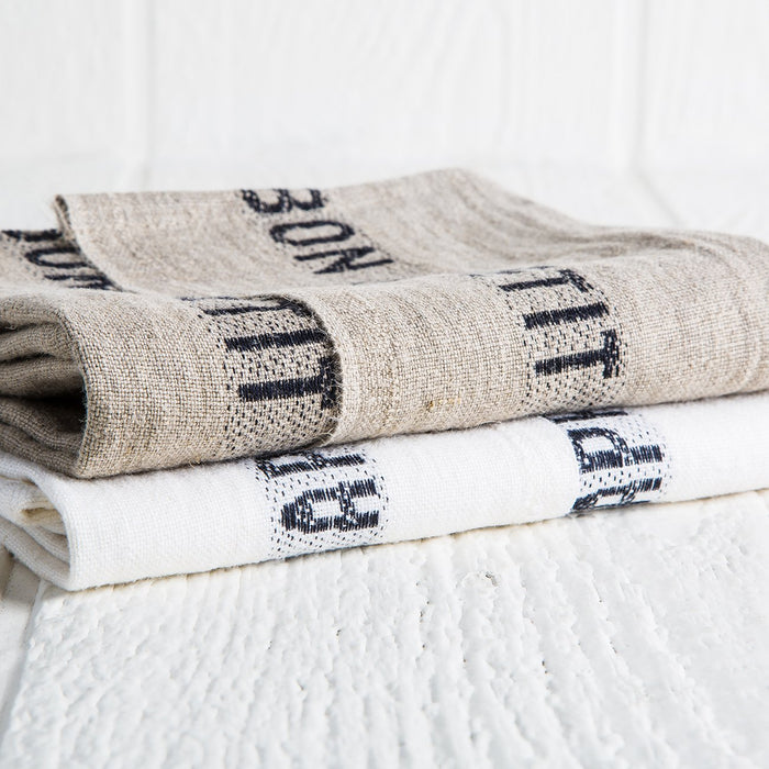 'Bon Appetit' Linen Tea Towels