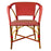 Bordeaux & Cream Mediterranean Bistro Chair with Woven Arms (W)