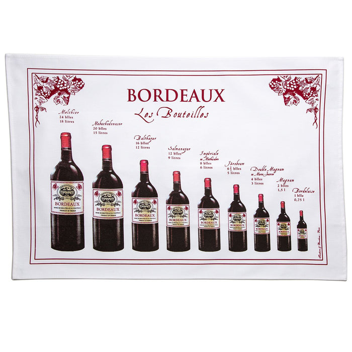 Bouteilles Bordeaux 100% Cotton Tea Towel