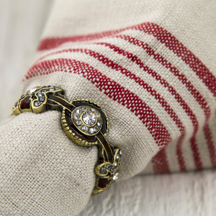 Bronze Band Jewel Napkin Ring