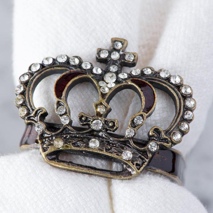 Bronze Crown Jewel Napkin Ring
