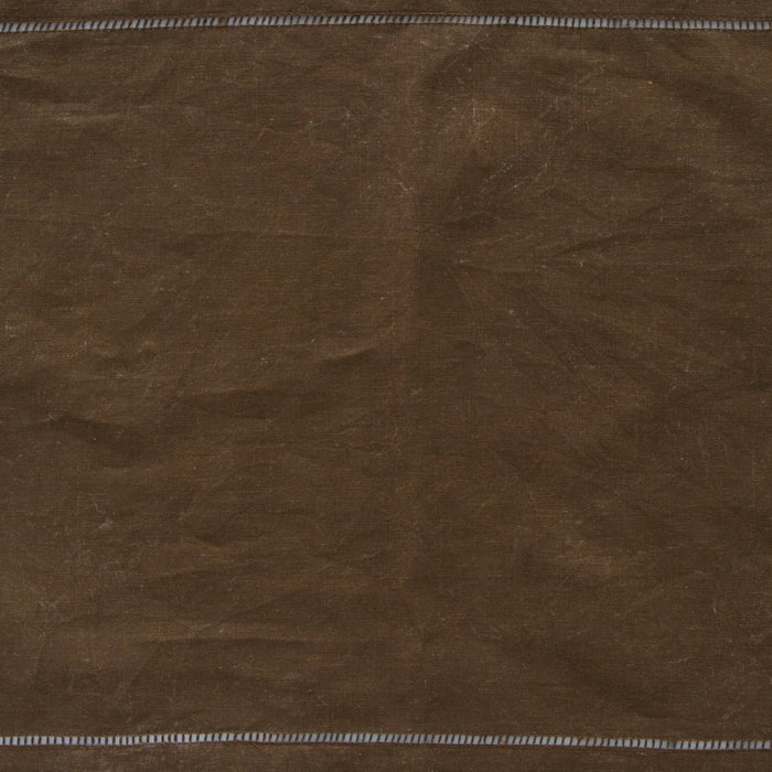 "Brown 100% Linen Hemstitched Placemat (19.5"" x 14"")"