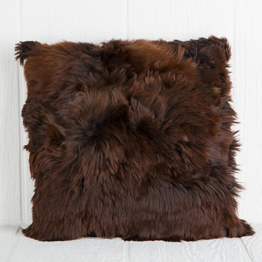 Brown Alpaca Pillow