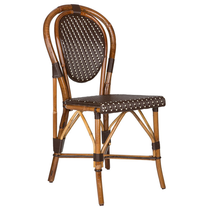 Brown & Cream Mediterranean Bistro Chair (H)