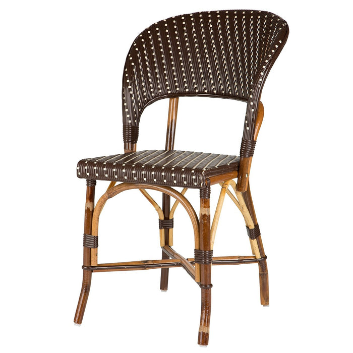Brown & Cream Mediterranean Bistro Wrap Back Chair (H)