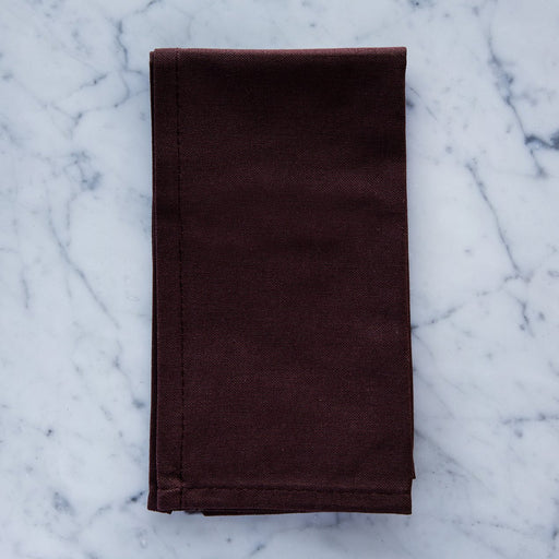 "Brown Cotton Single Stitch Napkin (17"")"