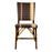 Brown, Cream, Pink & Gold Mediterranean Bistro Square Back Stripe Chair