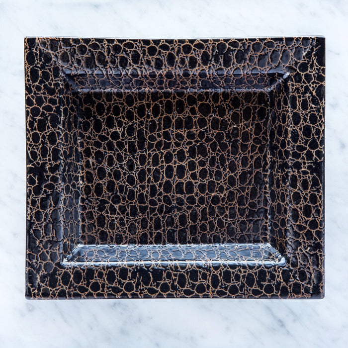 Brown Crocodile Decorative Tray