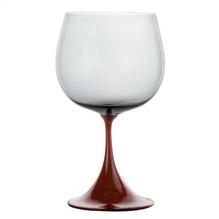 Burgundy Red & Grey Burlesque Nason Moretti Goblet