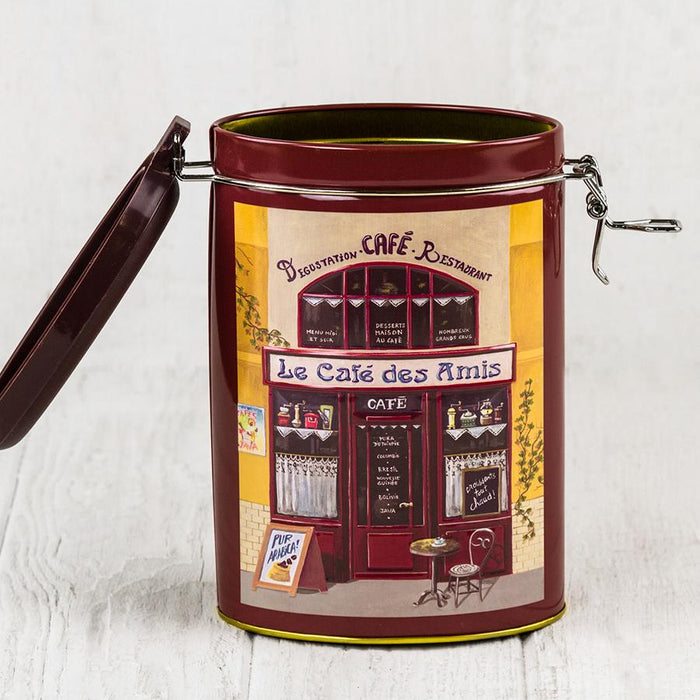 Burgundy Red Metal Tin with Latch