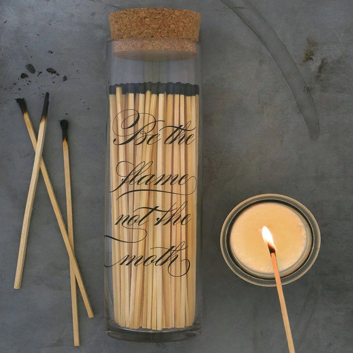Calligraphy Fireplace Matches (Black)