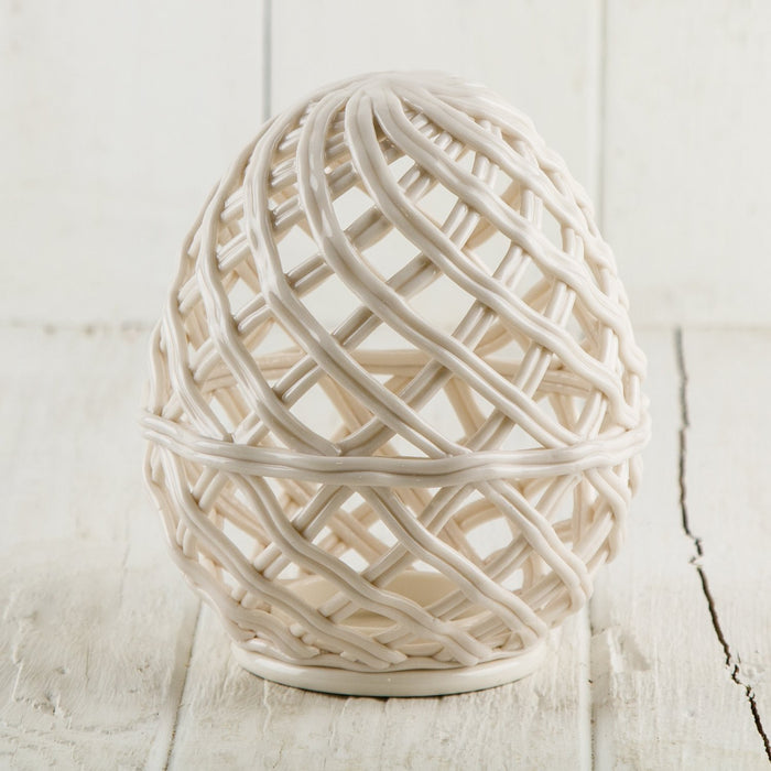 Ceramic Braided Egg Votive