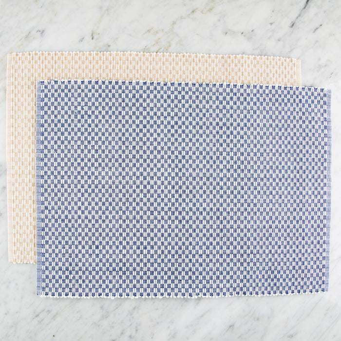 "Checkered 100% Cotton Rep Weave Placemat (19.25"" x 13"")"