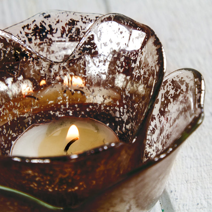 Chocolate Flower Shaped Votive