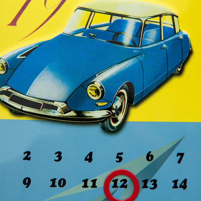 Citroen Convex Tin Calendar with Adjustable Magnet Day Ring