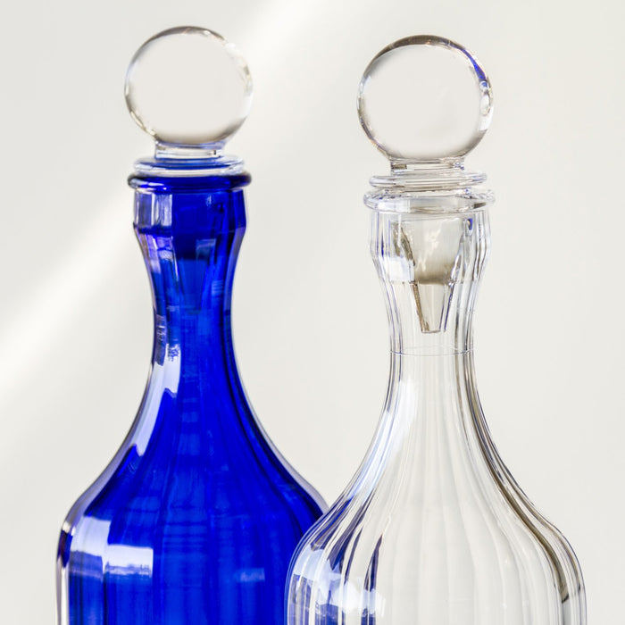 "Clear Bona Decanter with Stopper (12"" h)"