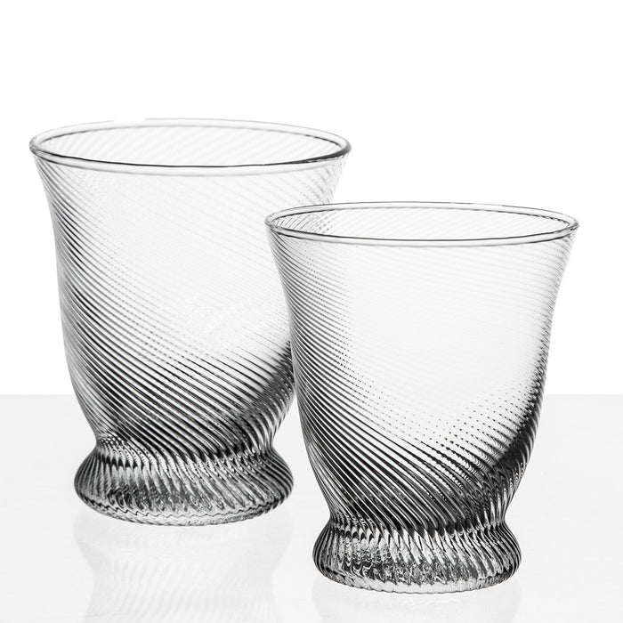Clear Twist Water Glass
