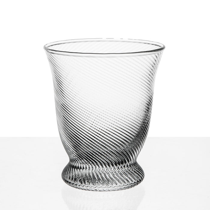Clear Twist Wine Glass