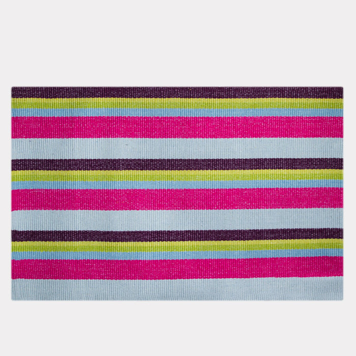 Clover Striped Cotton Rug
