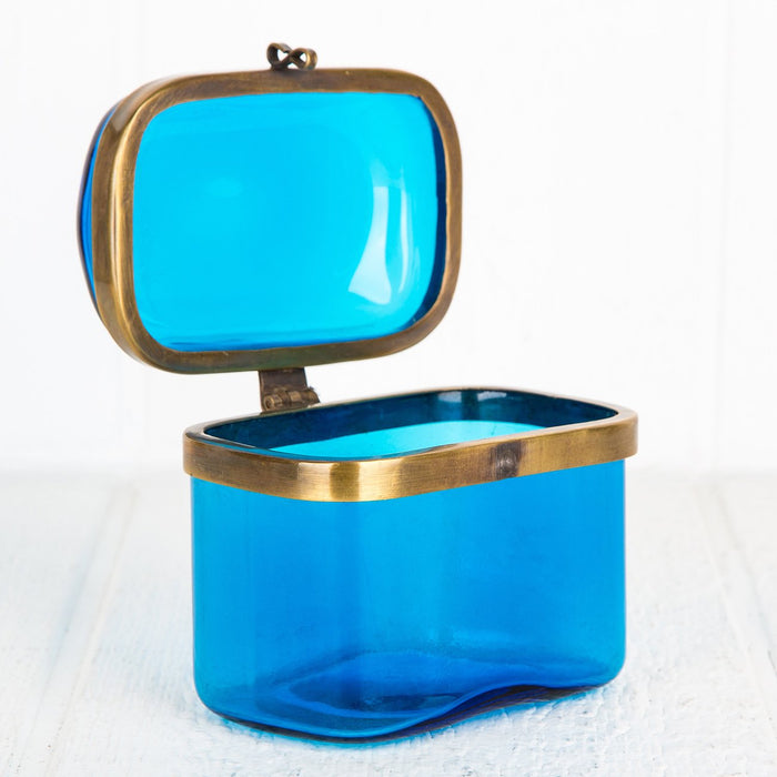 Colored Glass Jewelry Boxes