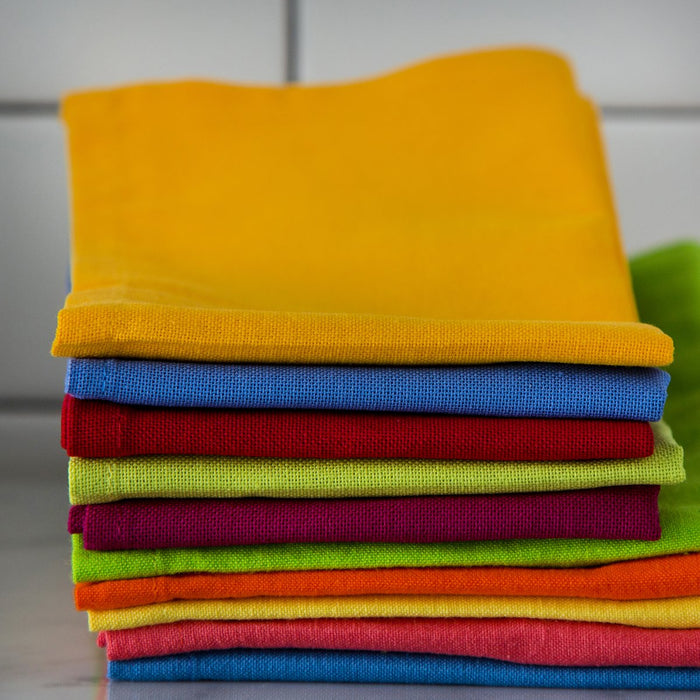 "Colorful Cotton Single Stitch Napkins (17"")"