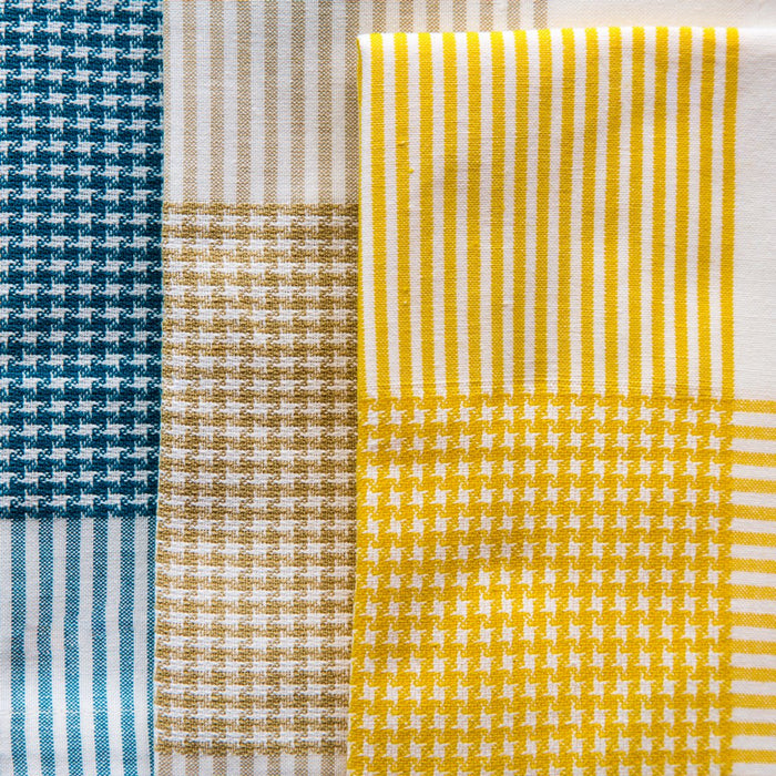 "Colorful Houndstooth 100% Cotton Napkins (20"")"