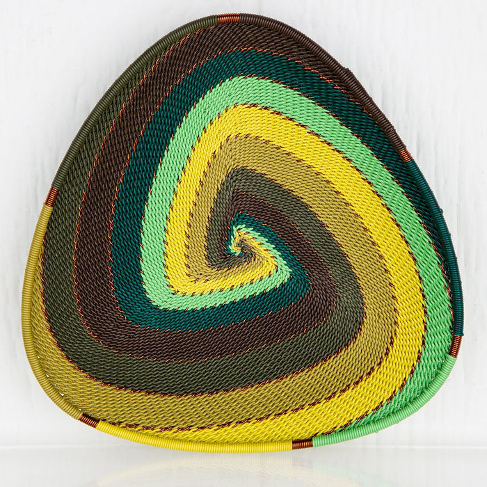 Colorful Telephone-Wire Triangular Baskets