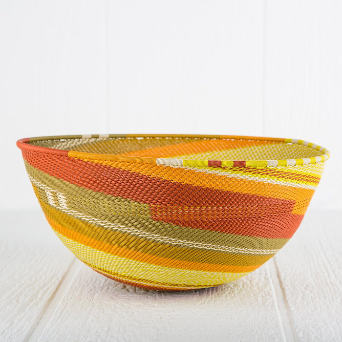 Colorful Telephone-Wire Weave Bowls (Extra Large)