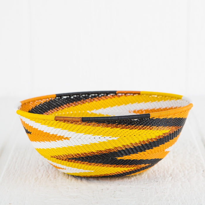 Colorful Telephone-Wire Weave Bowls (Medium)