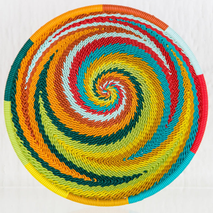 Colorful Telephone-Wire Weave Bowls (Small)