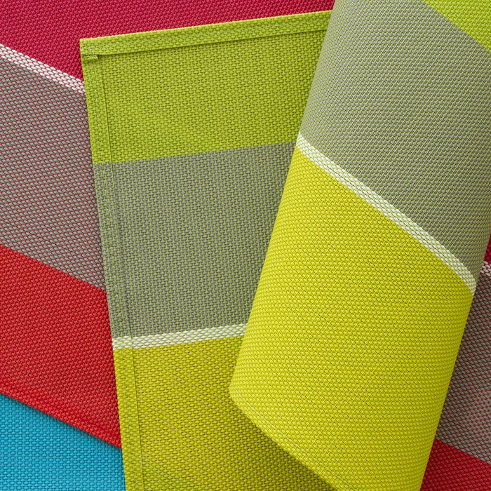 "Colorful Woven PVC Placemats (17.75"" x 13"")"