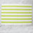 "Colorfully Striped Lime Green 100% Cotton Placemat (19"" x 13"")"