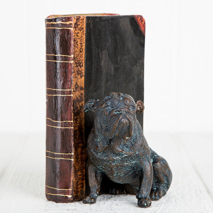 Copper Bulldog Book Ends