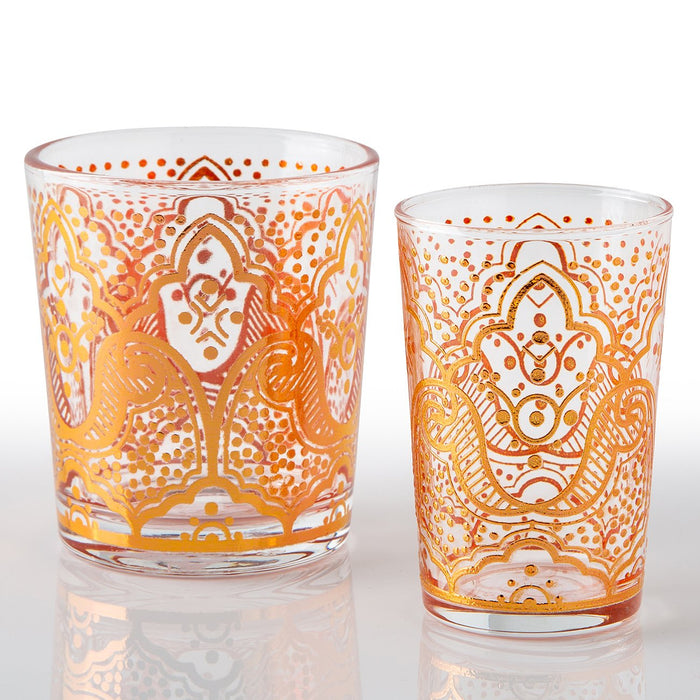 Copper El Kef Moroccan Tea Glasses