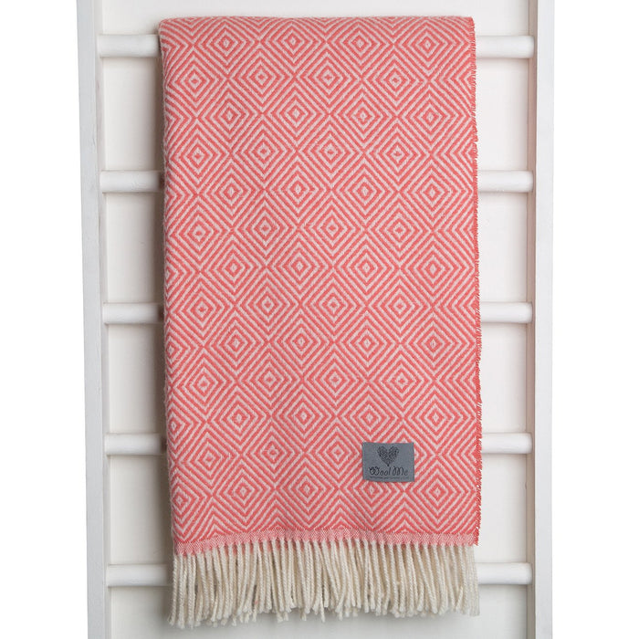 Coral Lamb Wool Throw Blanket