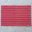 "Coral Pink 100% Cotton Stripe & Diamond Rep Weave Placemat (19.25"" x 13"")"