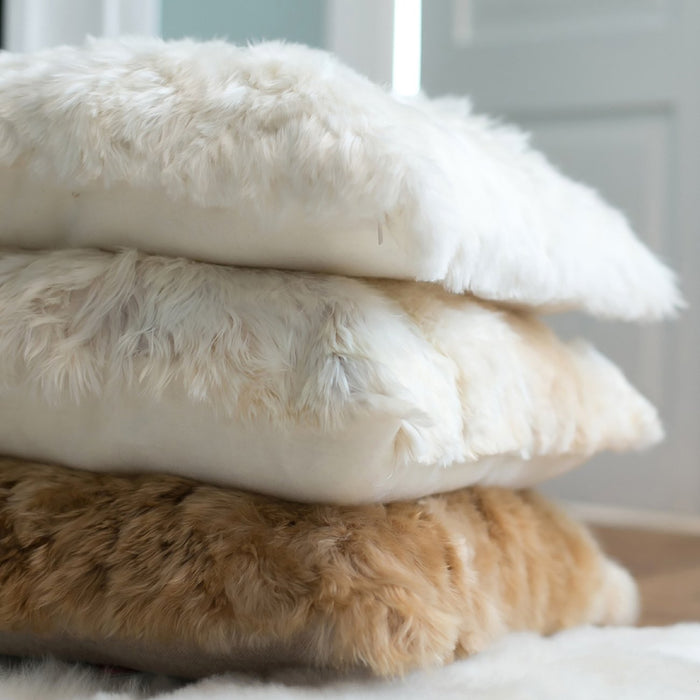 Cream Alpaca Pillow