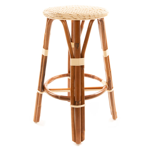 "Cream and Beige Mediterranean Bistro Stool (26"" h) (L)"