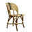 Cream & Brown Mediterranean Bistro Wrap Back Chair (D)