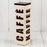 Cream and Brown Metal Coffee Tin